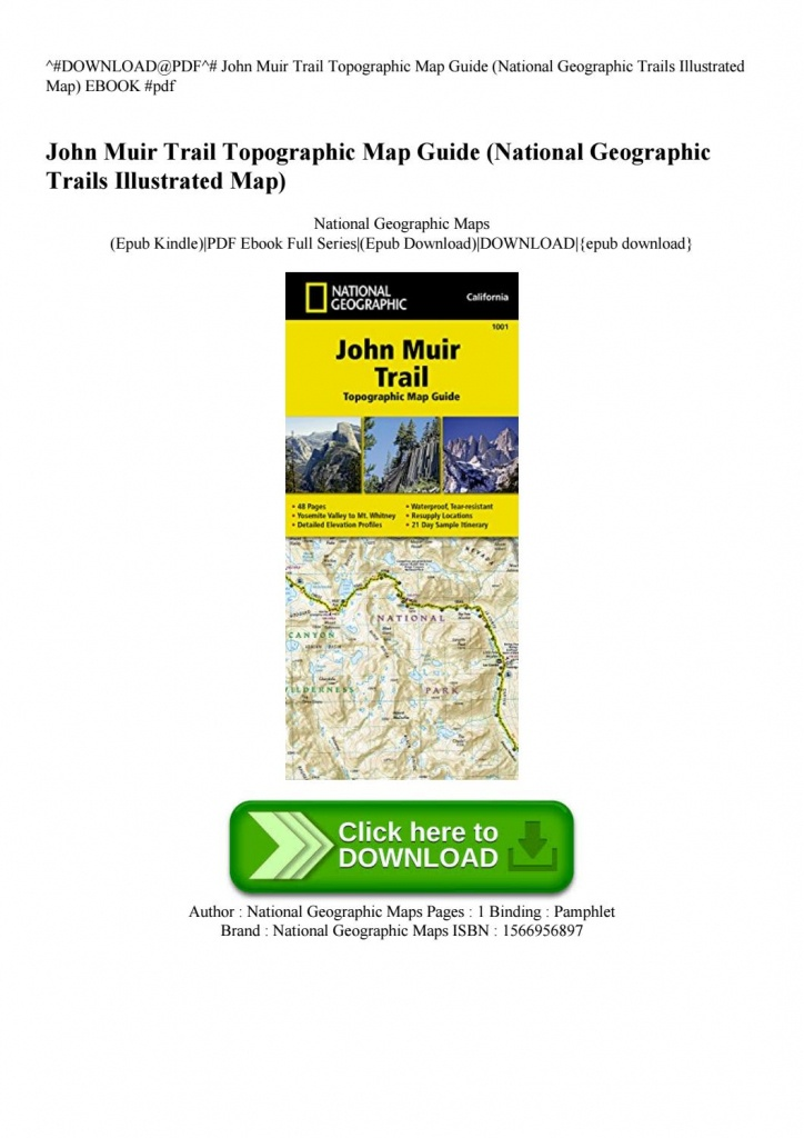 Download@pdf^# John Muir Trail Topographic Map Guide (National - National Geographic Topo Maps California