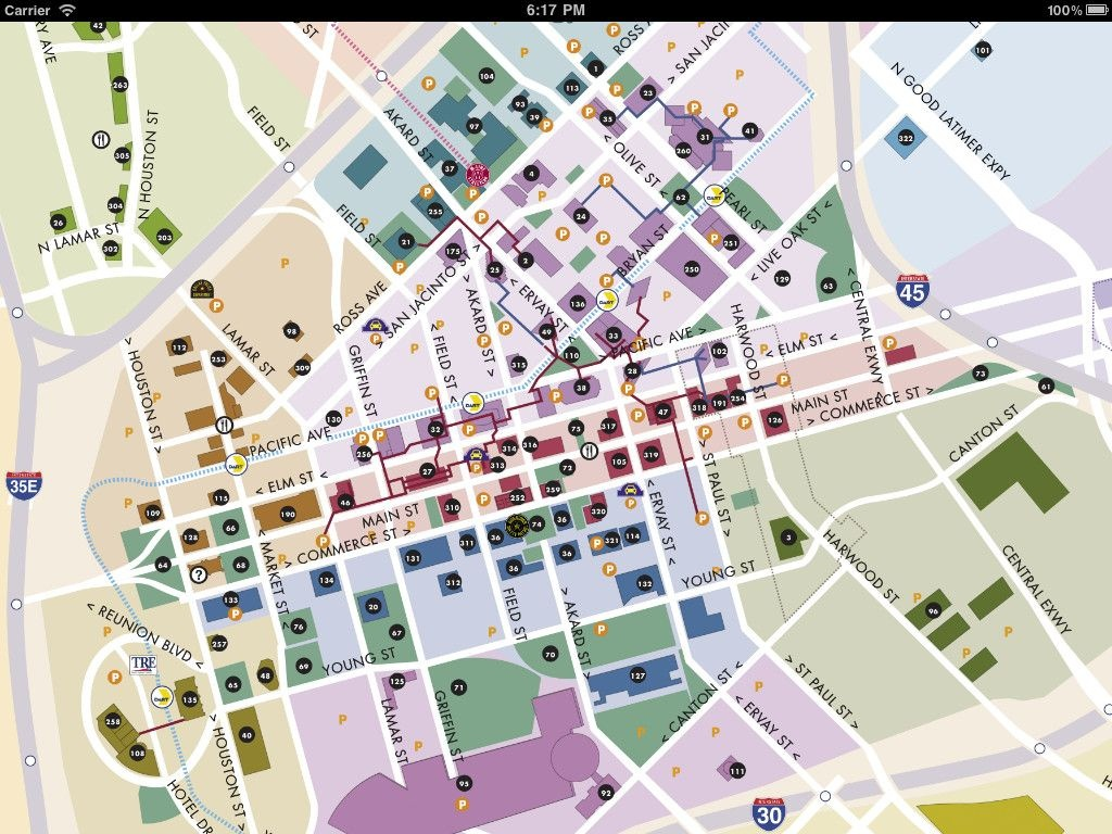 Downtown Dallas Map And Guide   Image Of Dallas Maps - Download Dart - Map Of Downtown Dallas Texas