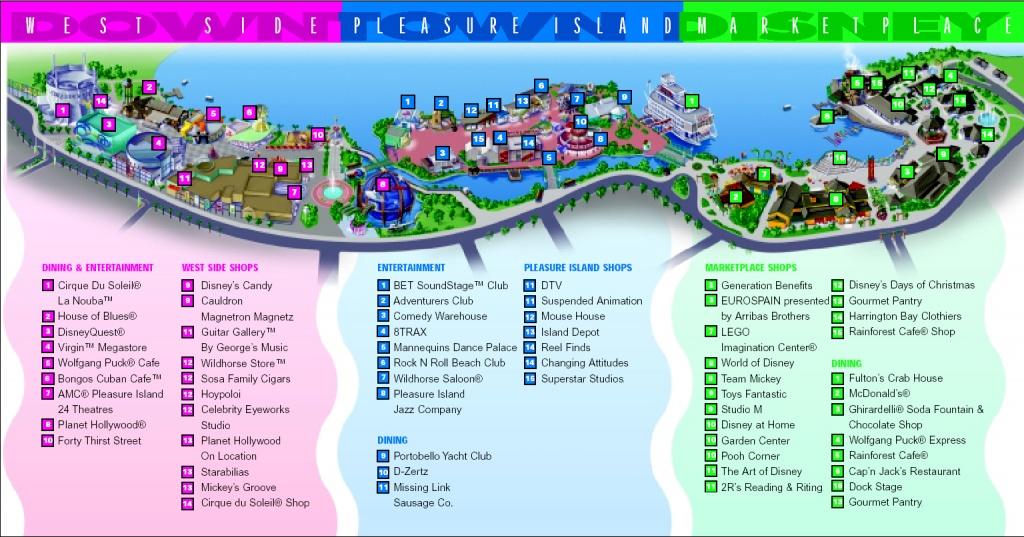 Downtown Disney Area | Walt Disney World Resort | Disney-Vacation - Map Of Downtown Disney Orlando Florida