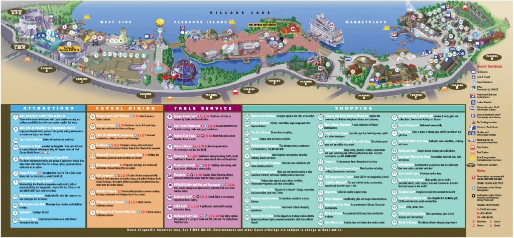 Downtown Disney Florida Map | Dehazelmuis - Map Of Downtown Disney Orlando Florida