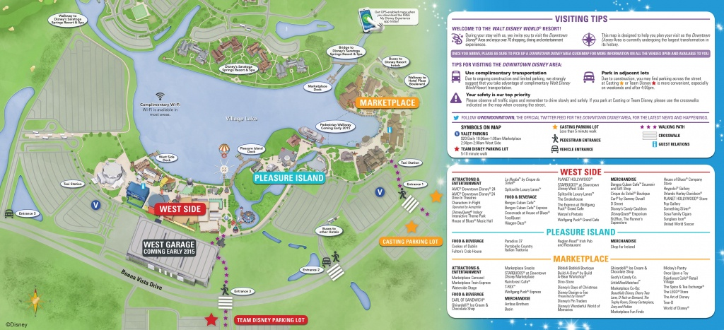 Downtown Disney Parking Information & Tips | Disney Parks Blog - Disney Springs Florida Map