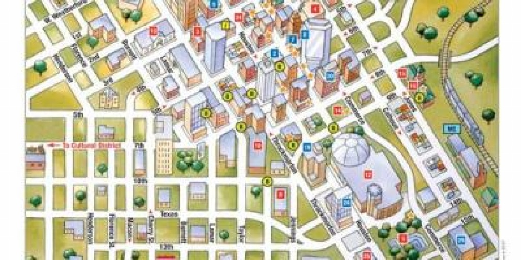 Downtown Fort Worth Map - Map Of Downtown Ft Worth (Texas - Usa) - Map Of Downtown Fort Worth Texas