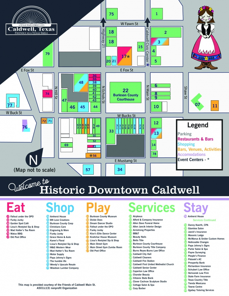 Downtown Map - Caldwell Texas Map