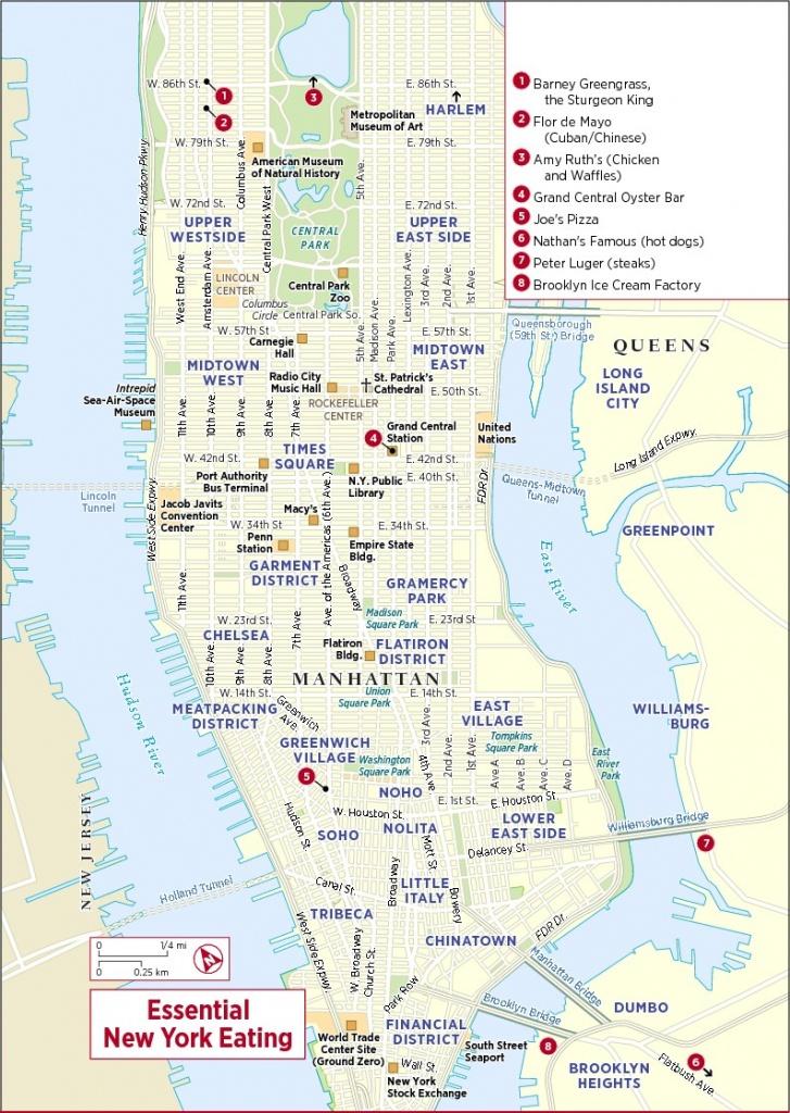 New York Downtown Map Printable