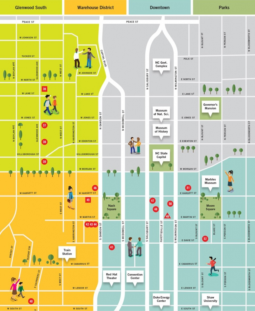 Downtown Raleigh Map Shopping | D1Softball - Printable Map Of Downtown Raleigh Nc
