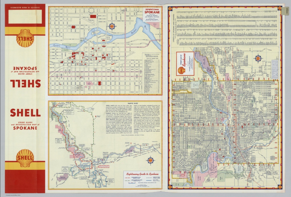 Downtown Spokane. Street Map Of Spokane. Sightseeing Guide To - Downtown Spokane Map Printable