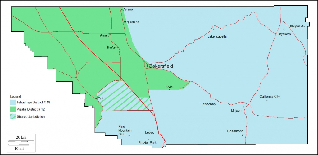 Drinking Water Field Operations Branch Districts - Tehachapi - Mcfarland California Map