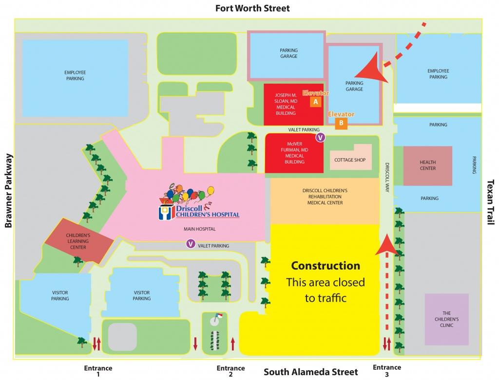 Driscoll Children's Hospital – Main Campus | Driscoll Children's - Texas Children's Hospital Map