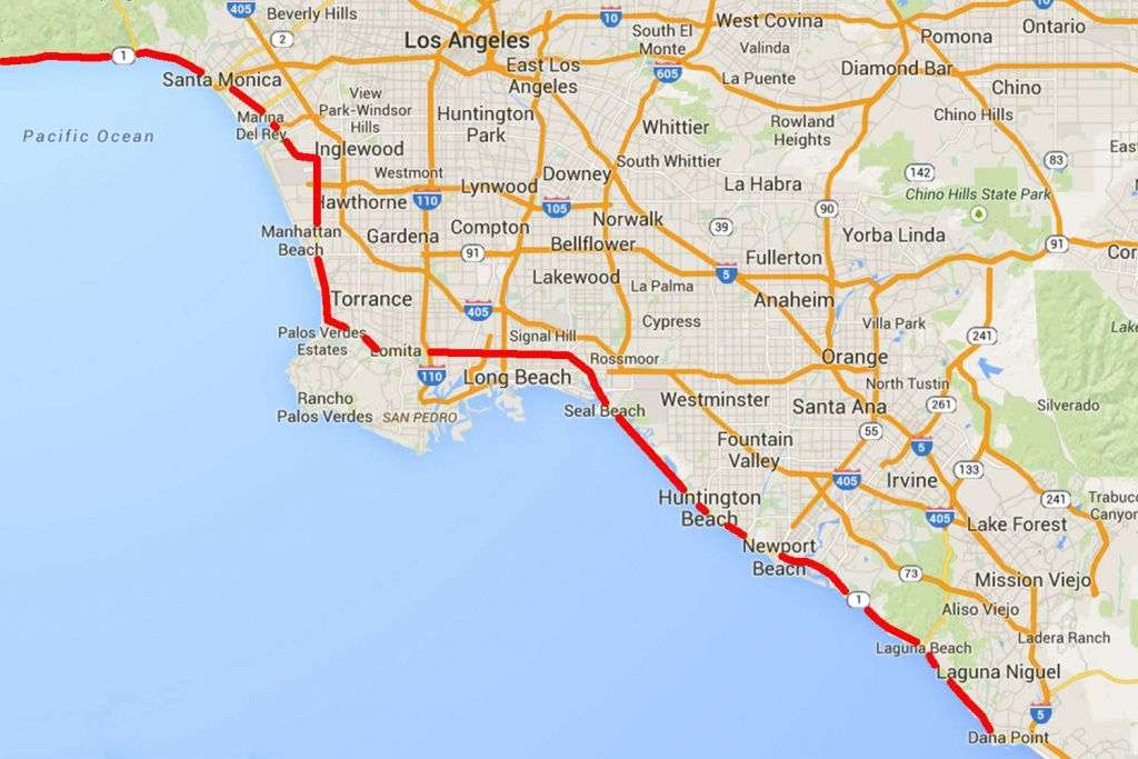 Drive The Pacific Coast Highway In Southern California - California Coast Drive Map