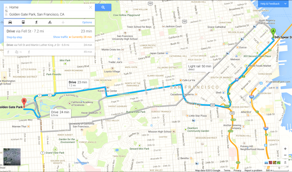 Driving Directions On Google Map - Capitalsource - Free Printable Maps Driving Directions