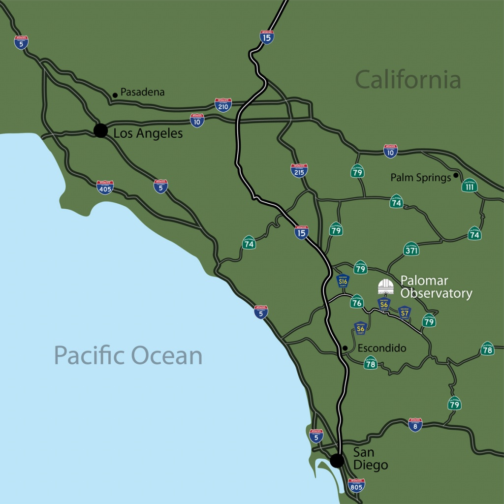 Driving Directions To Palomar Observatory - Off Road Maps Southern California
