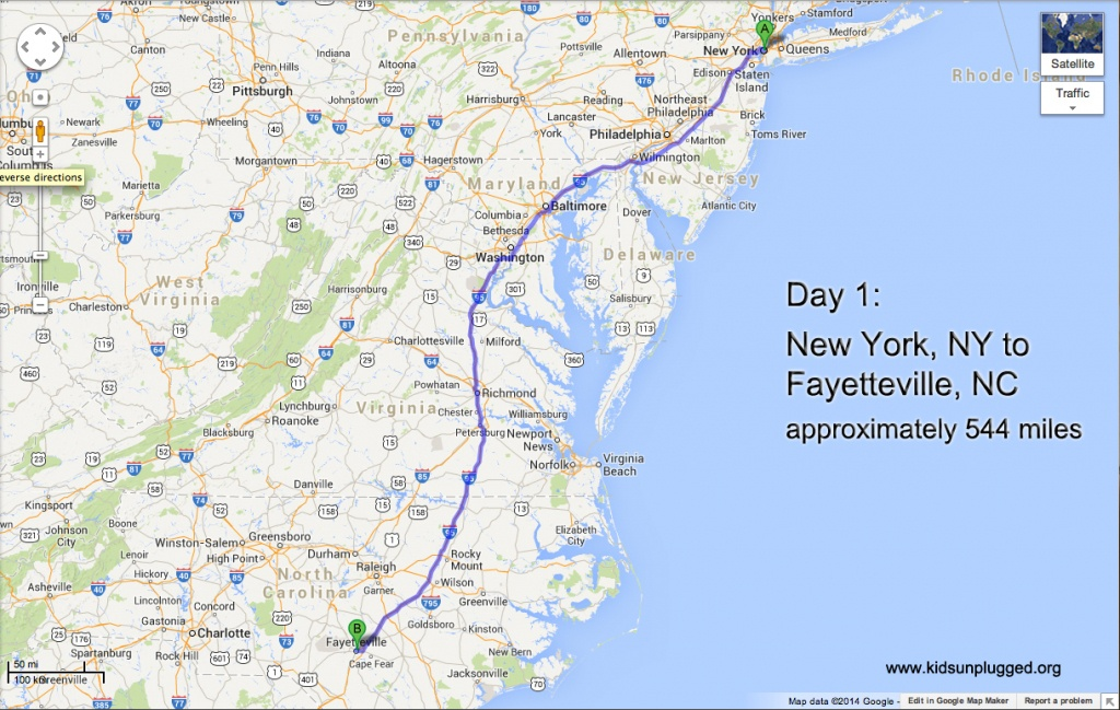 Driving From New York To Florida – A Step-By-Step Itinerary | Kids - Map Of I 95 From Florida To New York