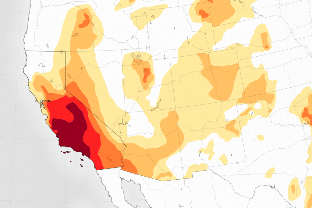 Drought Continues To Grip Southern California - California Drought Map