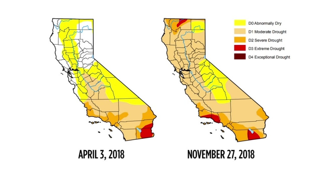 Drought Map Shows Recent Storm Has Not Helped Conditions In - California Drought Map