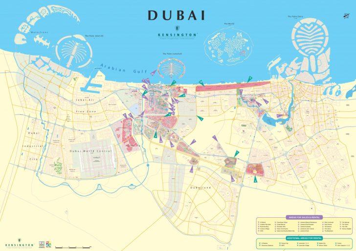 Printable Map Of Dubai