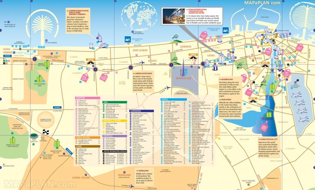 Dubai Maps - Top Tourist Attractions - Free, Printable City Street Map - Dubai Tourist Map Printable