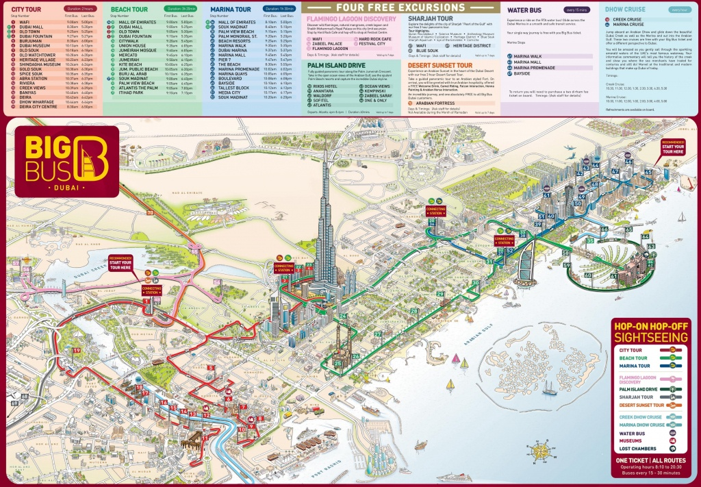 Dubai Tourist Attractions Map - Printable Map Of Dubai