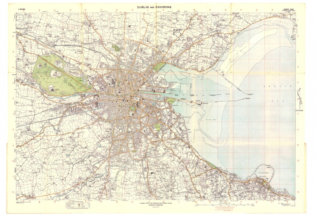 Dublin City – L Brown Collection - Printable Map Of Dublin