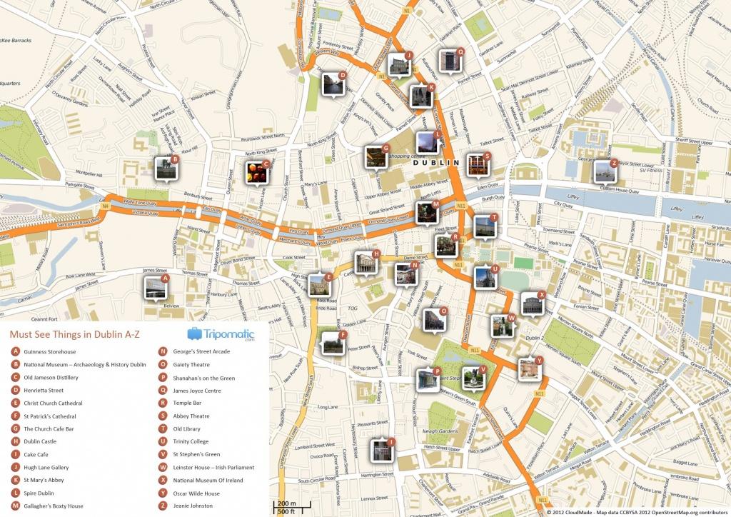 Dublin Printable Tourist Map In 2019   Free Tourist Maps ✈   Dublin - Cork City Map Printable