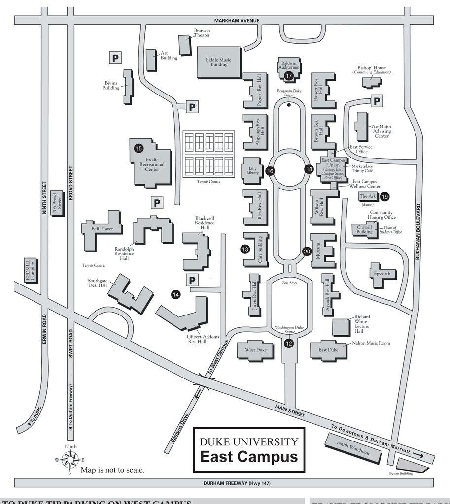 Duke Campus Map Pdf   Europeancytokinesociety - Duke University Campus Map Printable