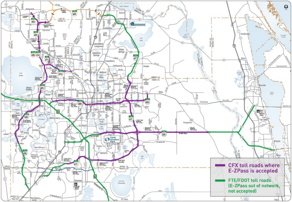 E-Zpass Now Accepted On Some Central Florida Toll Roads - Central Florida Attractions Map