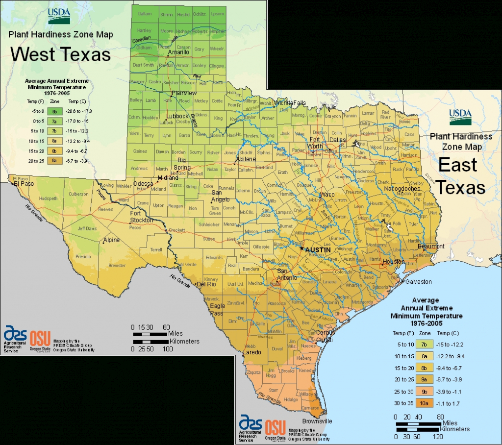 Earth-Kind Plant Selector - Texas Hardiness Zone Map