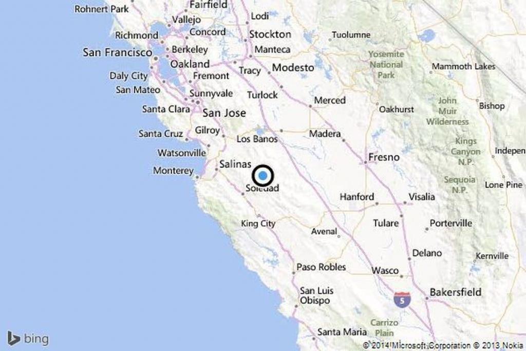 Earthquake: 3.1 Quake Strikes Near Soledad, Calif. - Los Angeles Times - Soledad California Map