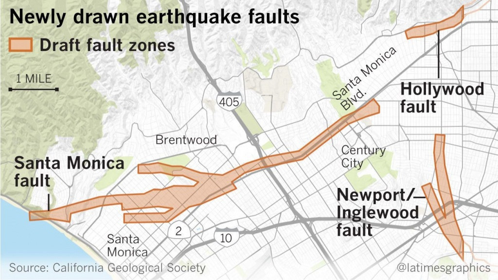 Earthquake Fault Maps For Beverly Hills, Santa Monica And Other - Where Is Santa Monica California On A Map