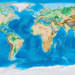 Earth's Topography And Bathymetry   No Labels   Topographic World Map Printable