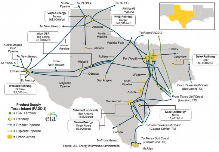 Texas Refineries Map
