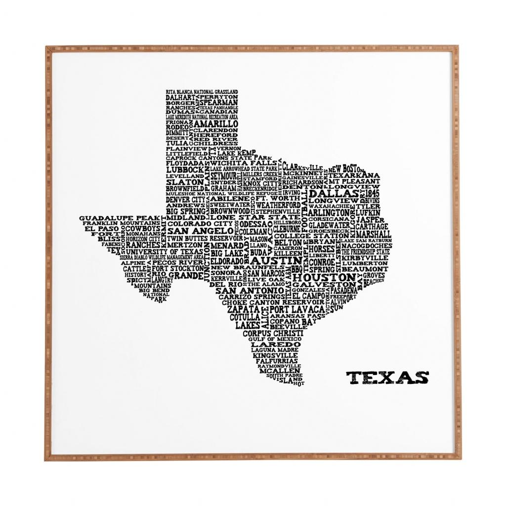 East Urban Home 'texas Map' Framed Graphic Art & Reviews | Wayfair - Texas Map Art