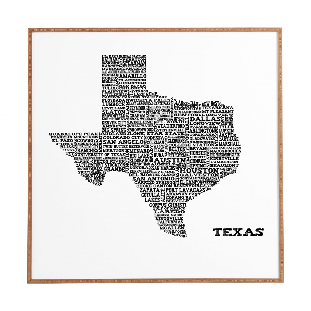 East Urban Home 'texas Map' Framed Graphic Art & Reviews | Wayfair - Texas Map Artwork