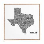 East Urban Home 'texas Map' Framed Graphic Art & Reviews | Wayfair   Texas Map Framed Art