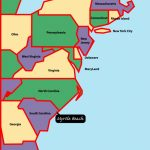 East+Coast+Map | Myrtle Beach Is Situated On The East, Or Atlantic   Map Of East Coast Of Florida Cities