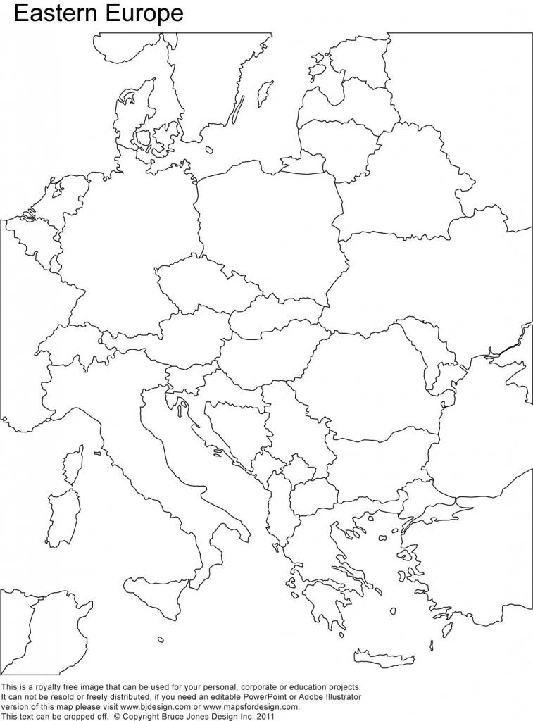 Eastern Europe Printable Blank Map, Royalty Free, Country Borders - Printable Blank Map Of Europe
