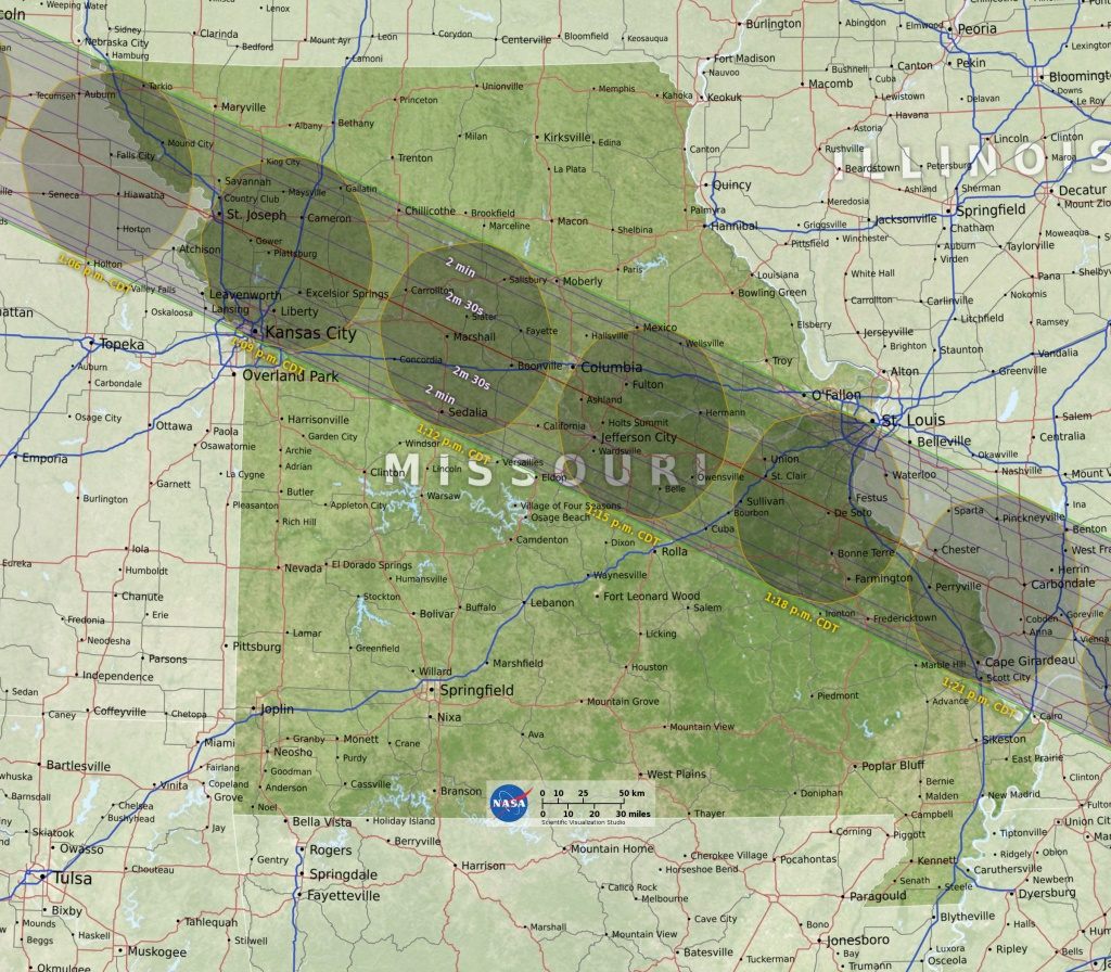 Eclipse Maps | Total Solar Eclipse 2017 - Printable Eclipse Map