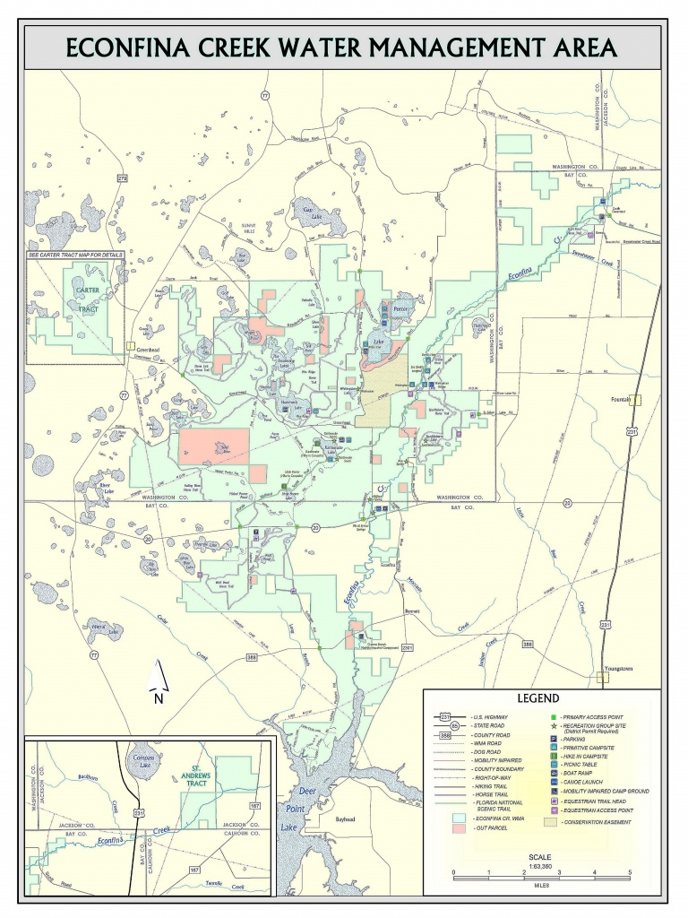 Econfina Canoe Launch | Northwest Florida Water Management District - Map Of Natural Springs In Florida