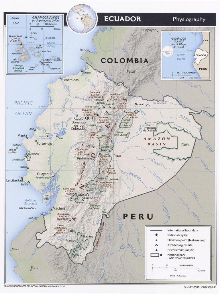 Ecuador Maps - Perry-Castañeda Map Collection - Ut Library Online - Printable Map Of Ecuador