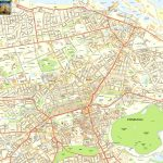 Edinburgh Offline Street Map, Including Edinburgh Castle, Royal Mile   Edinburgh City Map Printable