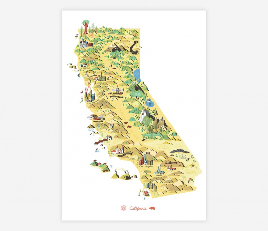 Edward Juan - State Of California At Buyolympia - California Map Art