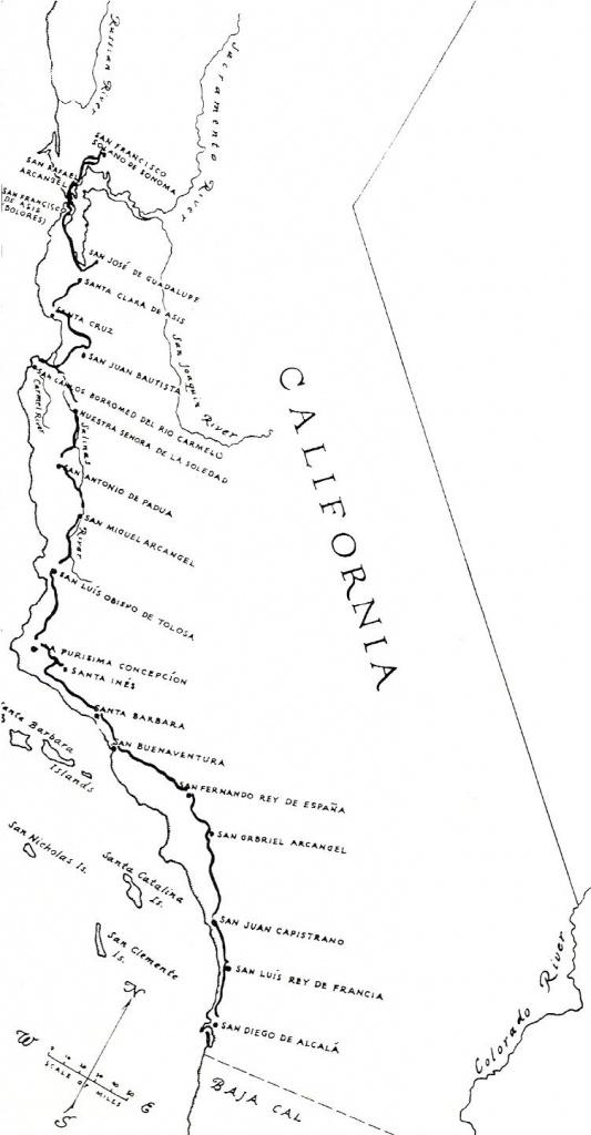 El Camino Real (California) - Wikipedia - Southern California Missions Map