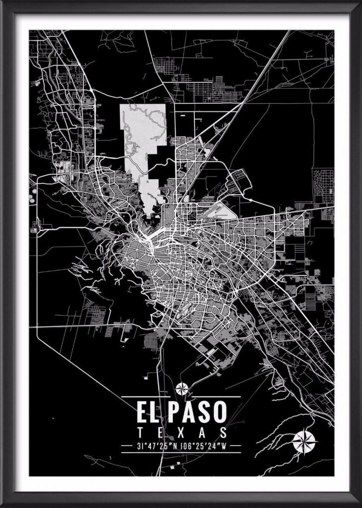 El Paso Texas Map With Coordinates In 2019 | Decor | Map Coordinates - Sun City Texas Map