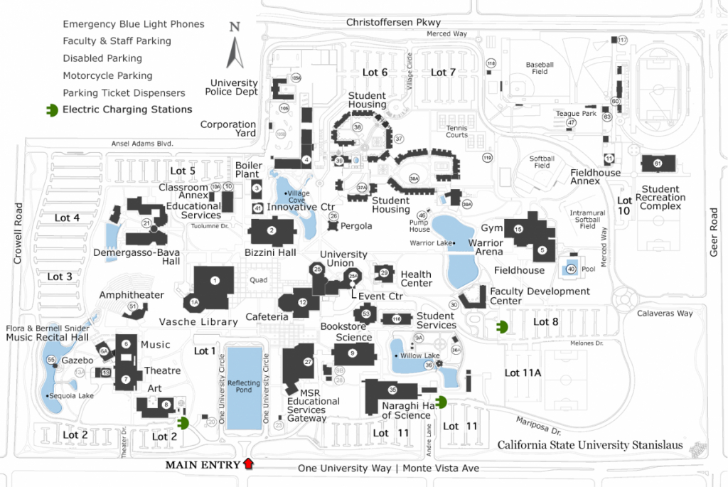 Electric Charging Stations | California State University Stanislaus - Charging Station Map California