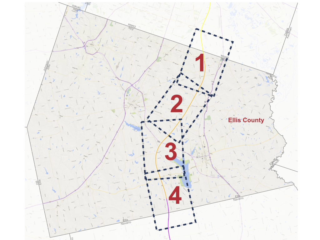 Ellis County Alignment Maps - Texas Central - High Speed Rail Texas Route Map
