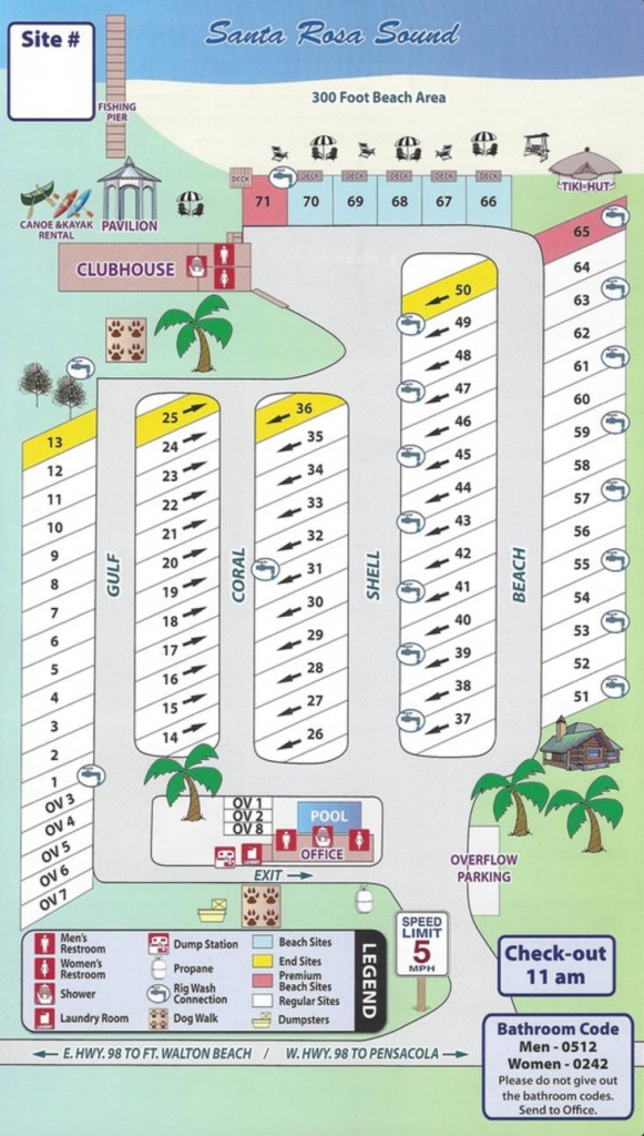 Emerald Beach Rv Park - Navarre Florida Map