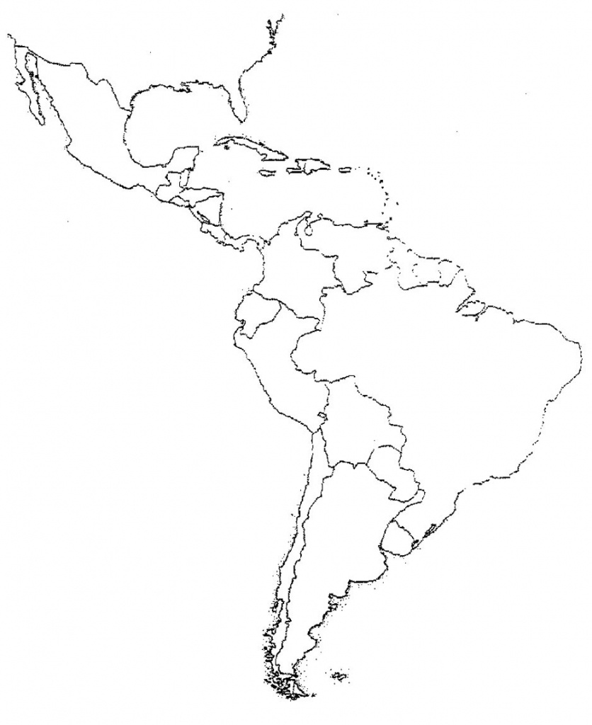Emerging South America Coloring Pages Blank Map Of Central And - Blank Map Of Central And South America Printable