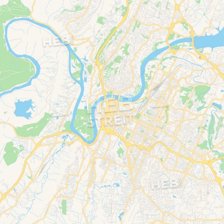 Printable Map Of Chattanooga