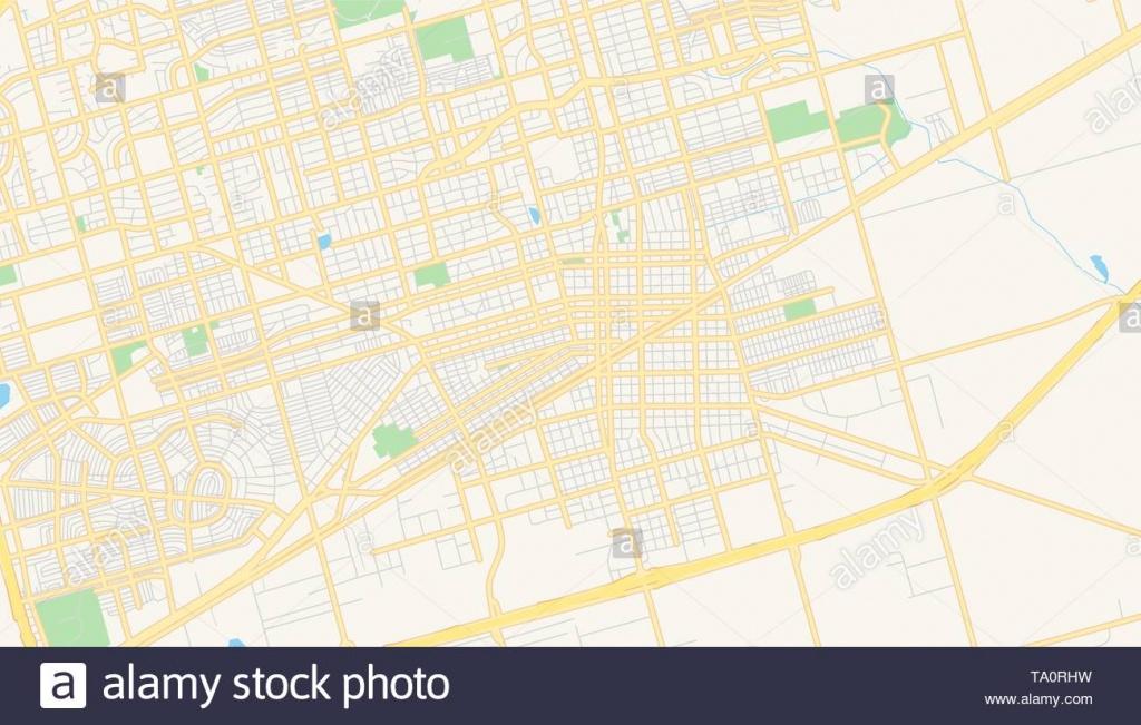 Empty Vector Map Of Midland, Texas, Usa, Printable Road Map Created - Map Of Midland Texas And Surrounding Areas