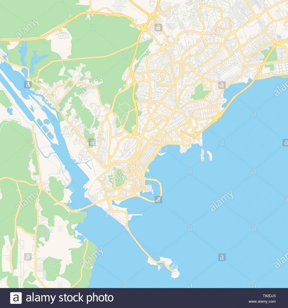 Empty Vector Map Of Panamá, Panamá, Panama, Printable Road Map - Printable Map Of Panama