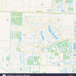 Empty Vector Map Of Wellington, Florida, Usa, Printable Road Map   Wellington Florida Map